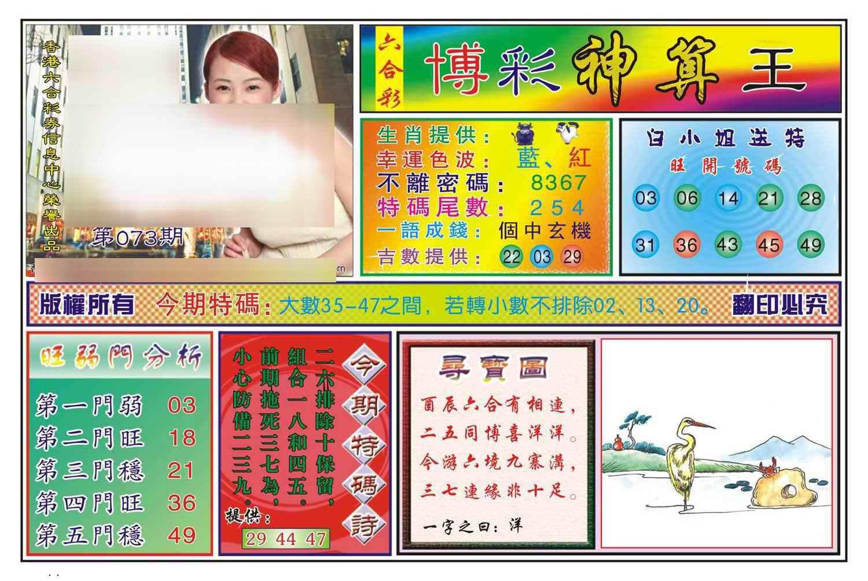 073期博彩神算王(新图)