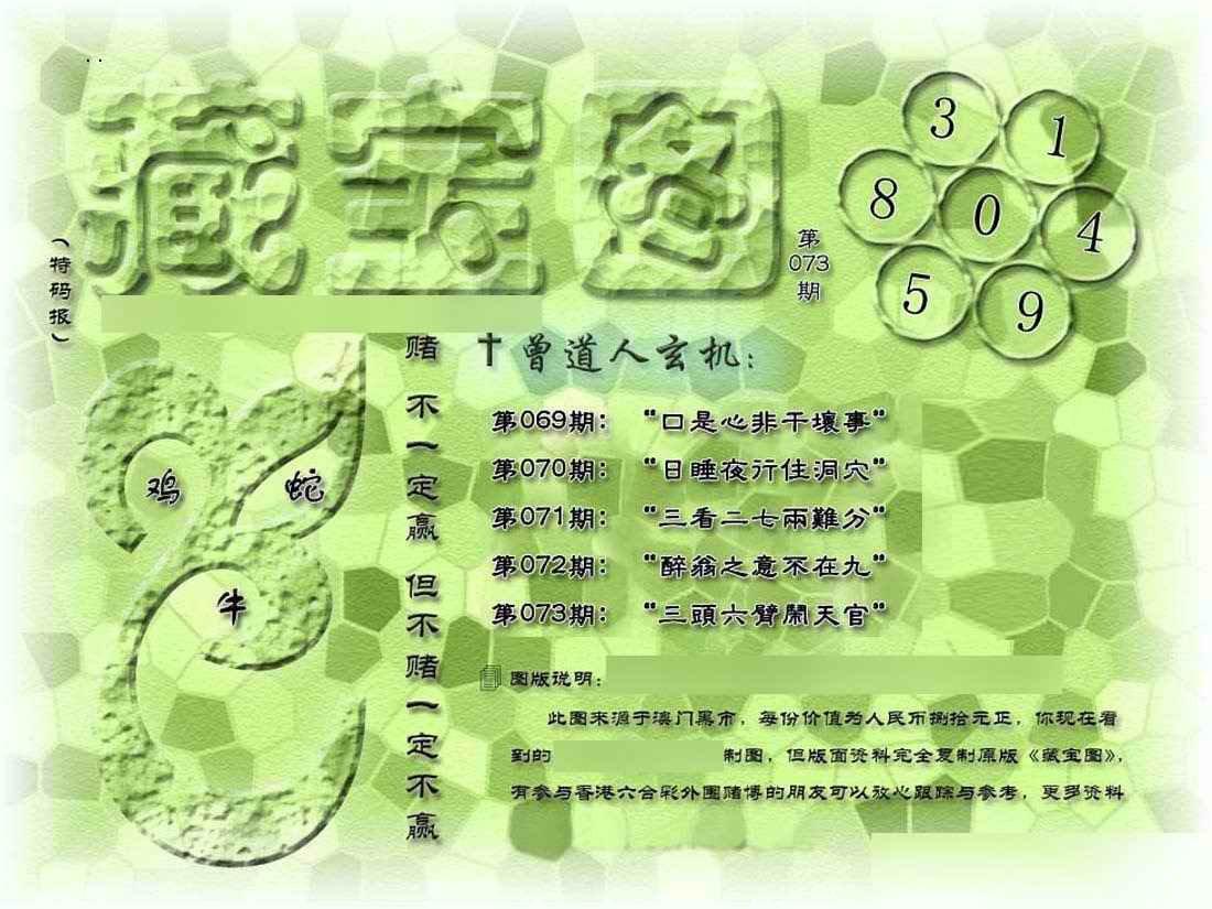 073期假新藏宝图
