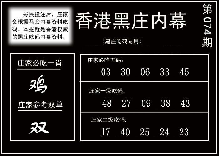 074期香港黑庄内幕