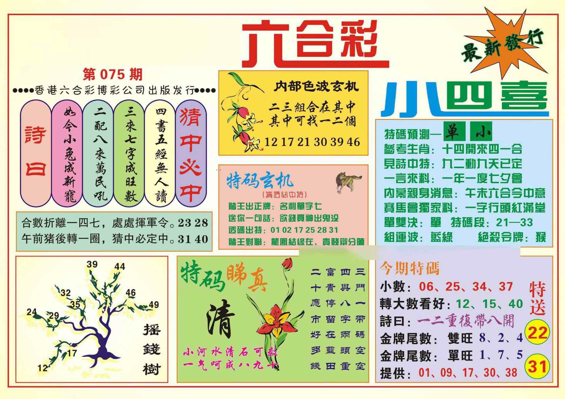 075期香港小四喜(新图)