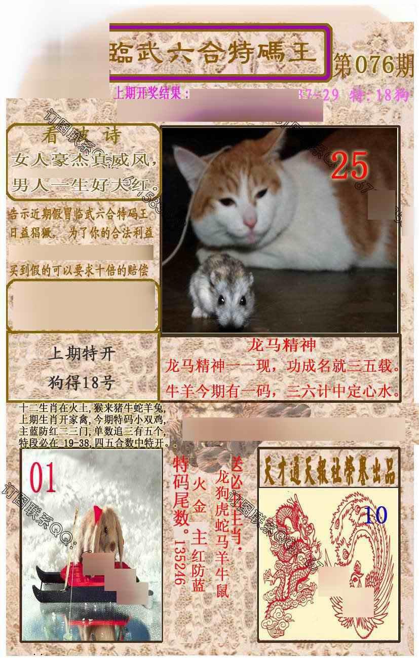 076期临武六合特码王