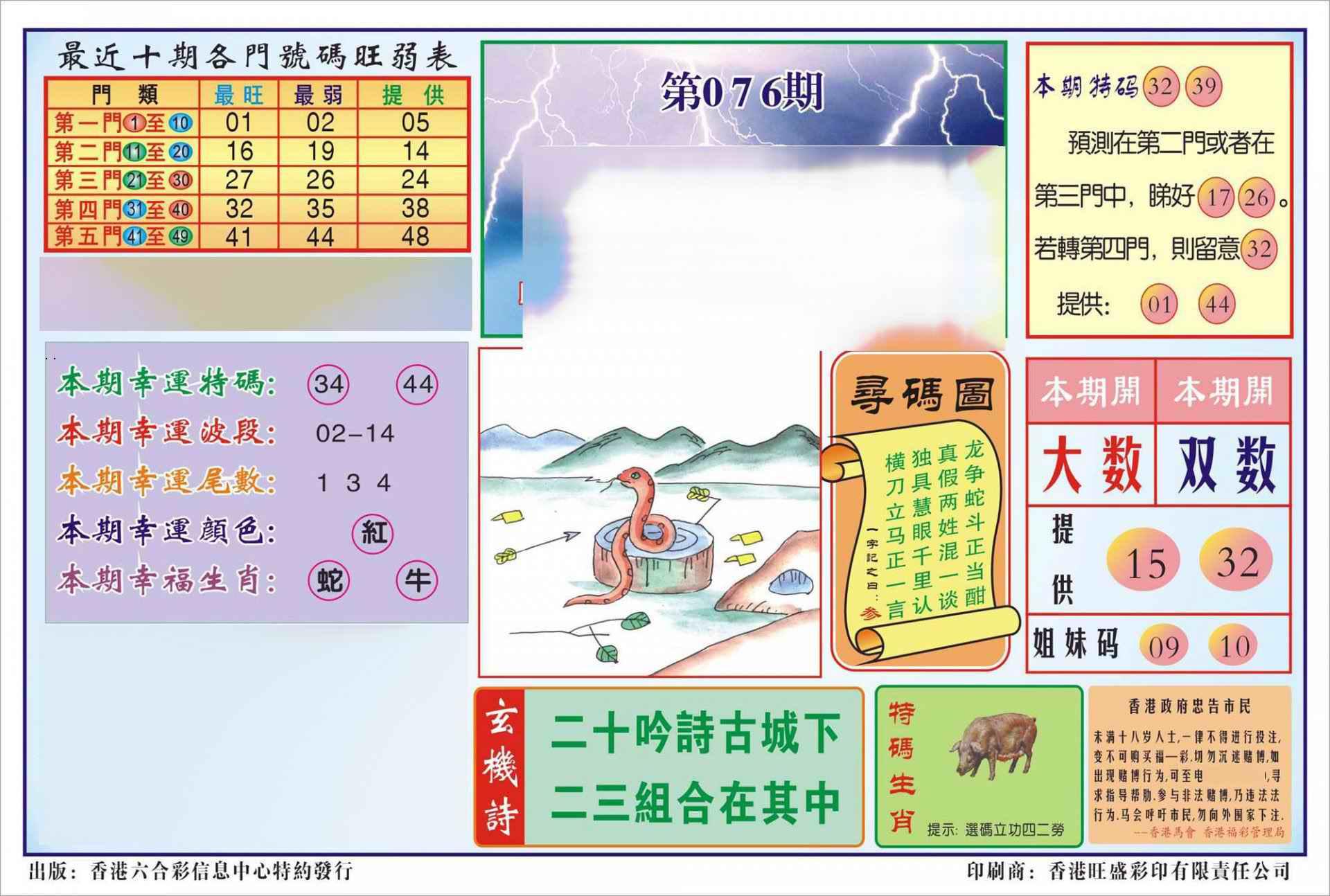 076期香港逢赌必羸(新图)
