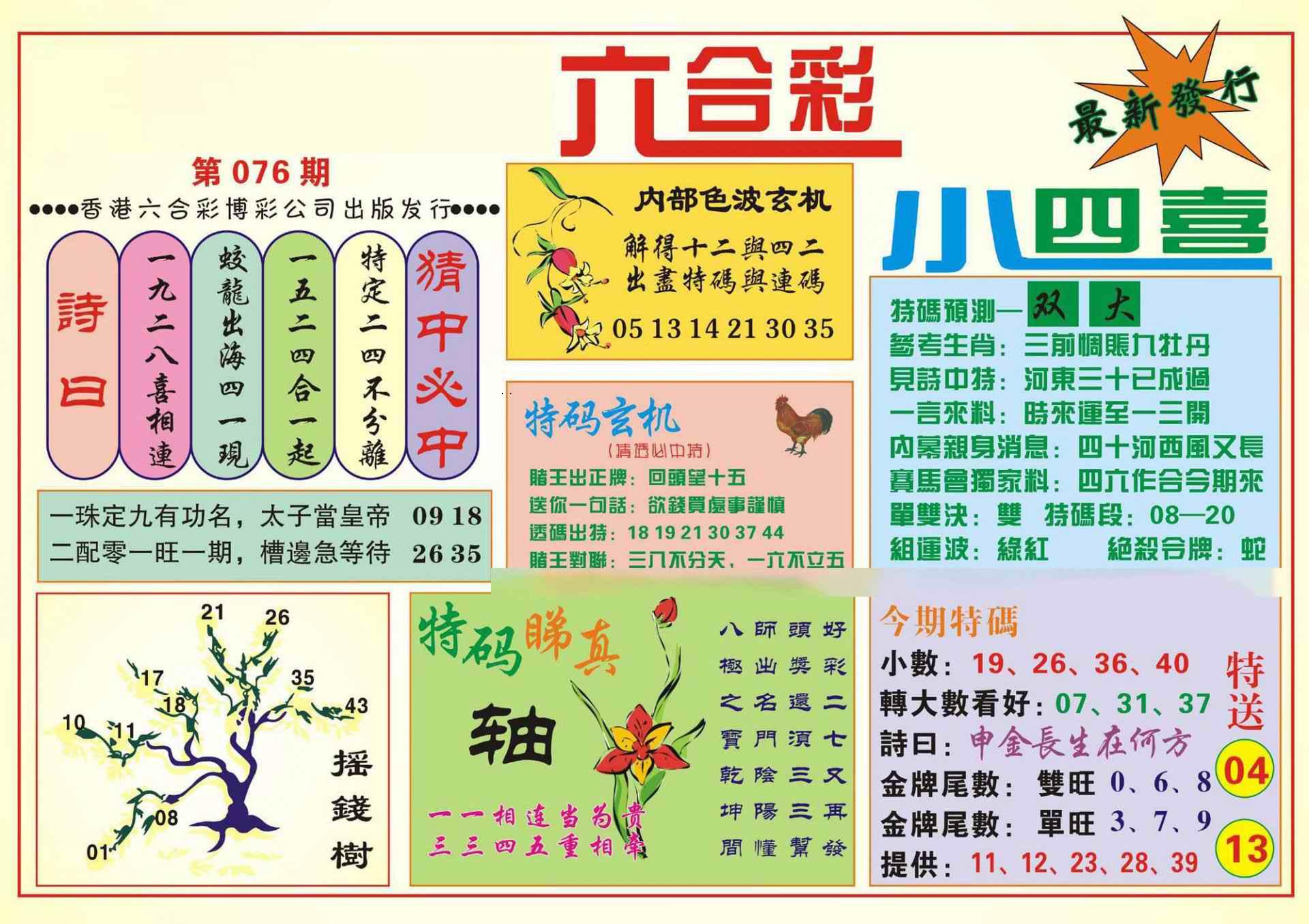 076期香港小四喜(新图)