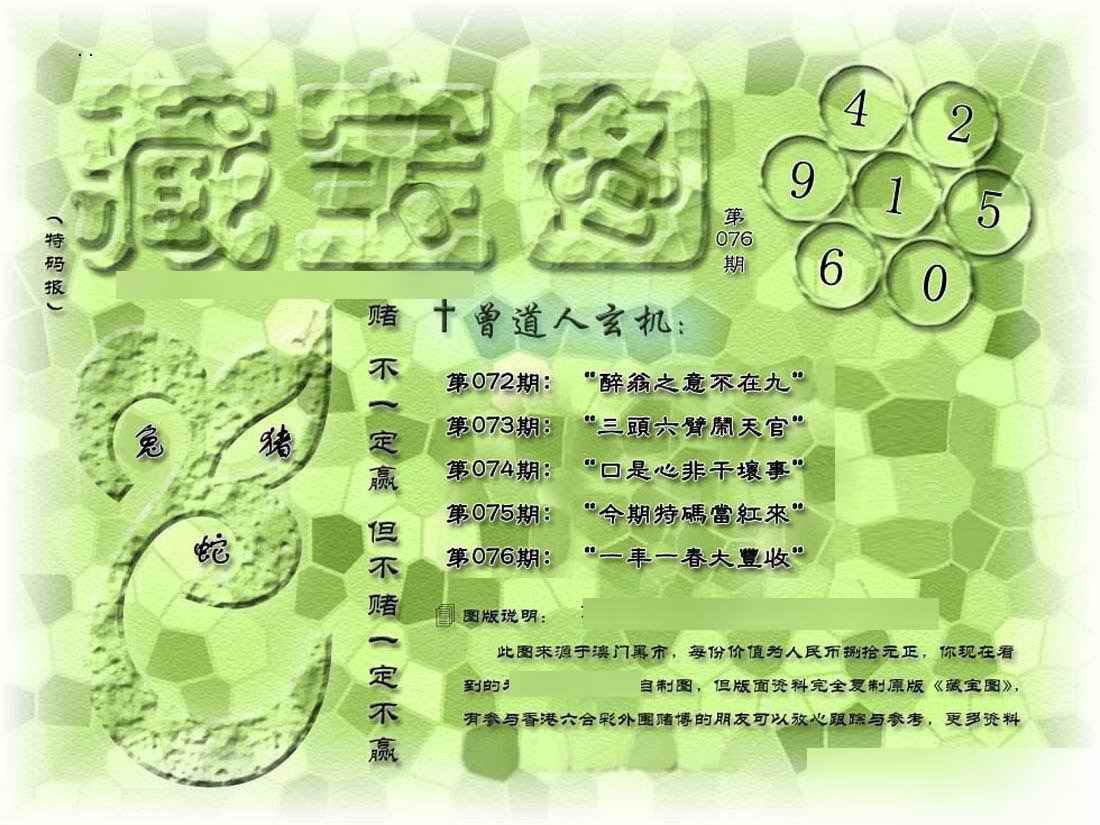 076期假新藏宝图