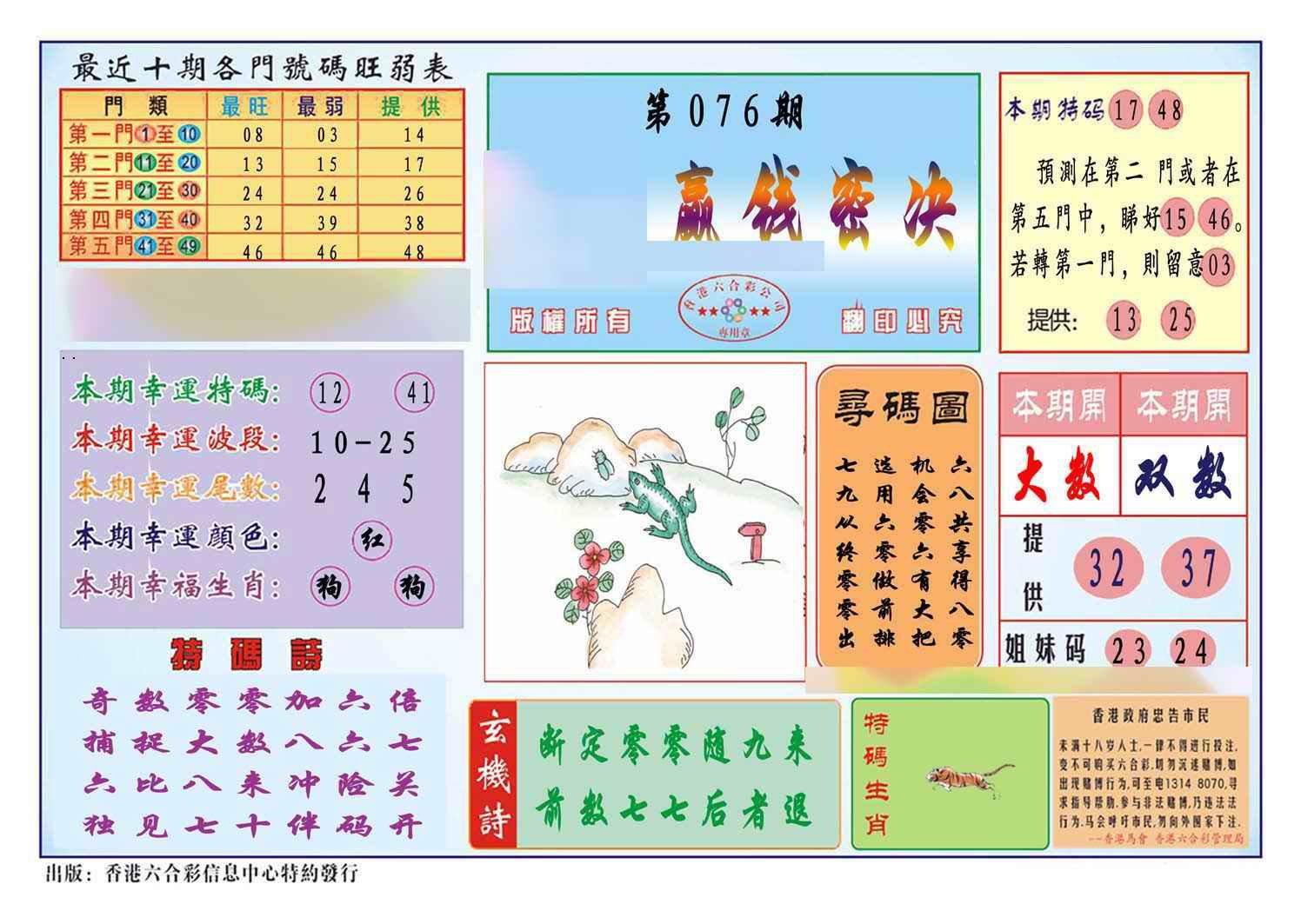 076期马经赢钱密决(新图)