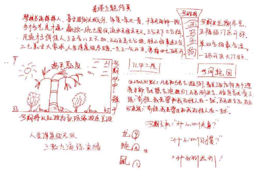 077期九龙传真(手写)