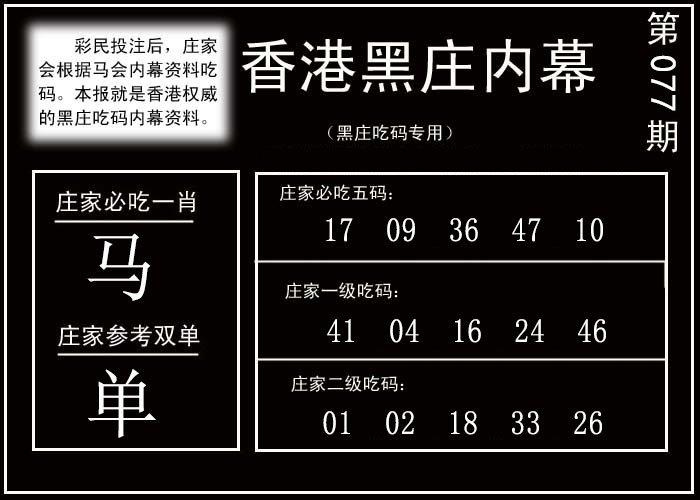 077期香港黑庄内幕