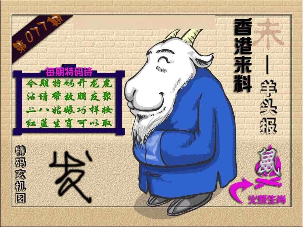077期(香港来料)羊报