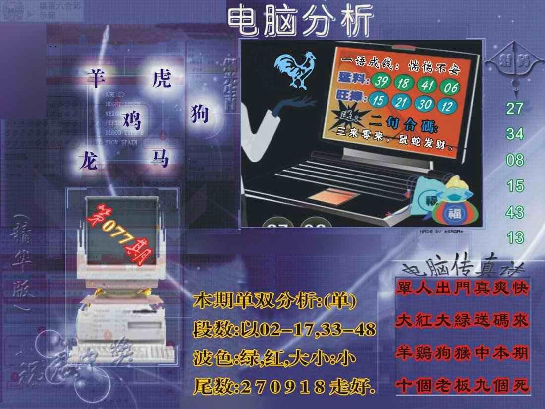 077期正版电脑分析贴士