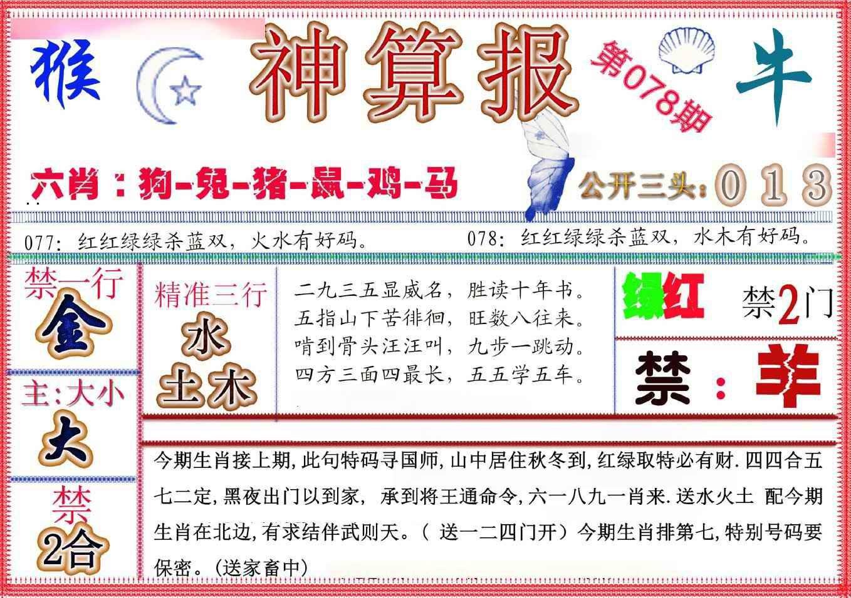 078期神算报(新版)