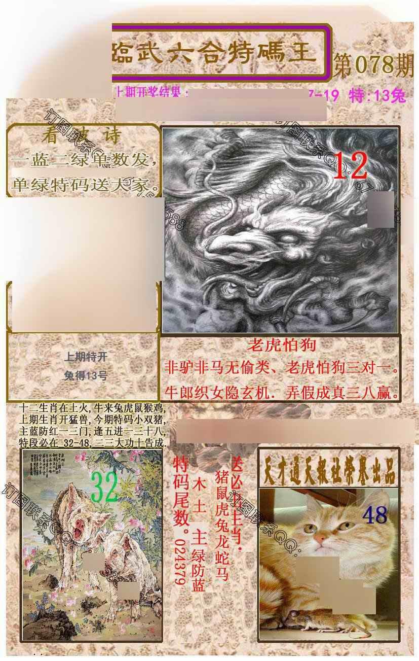 078期临武六合特码王
