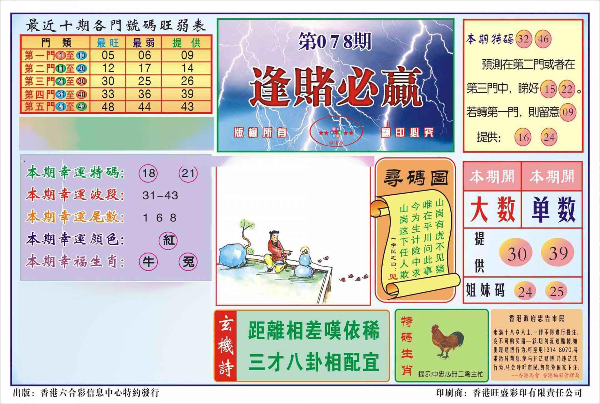 078期香港逢赌必羸(新图)