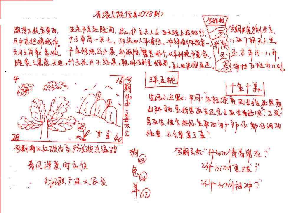 078期九龙传真(手写)
