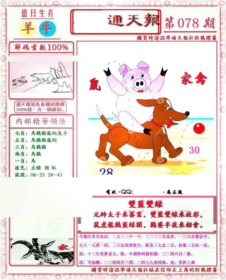 078期马经通天报(另版)