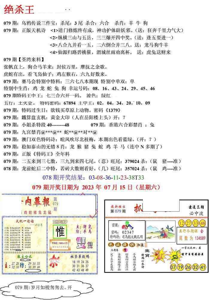 079期蓝天报(绝杀王)