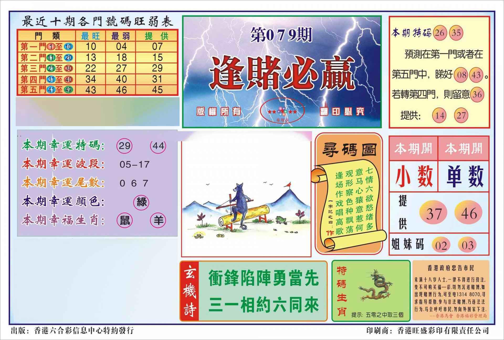 079期香港逢赌必羸(新图)