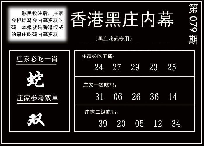 079期香港黑庄内幕