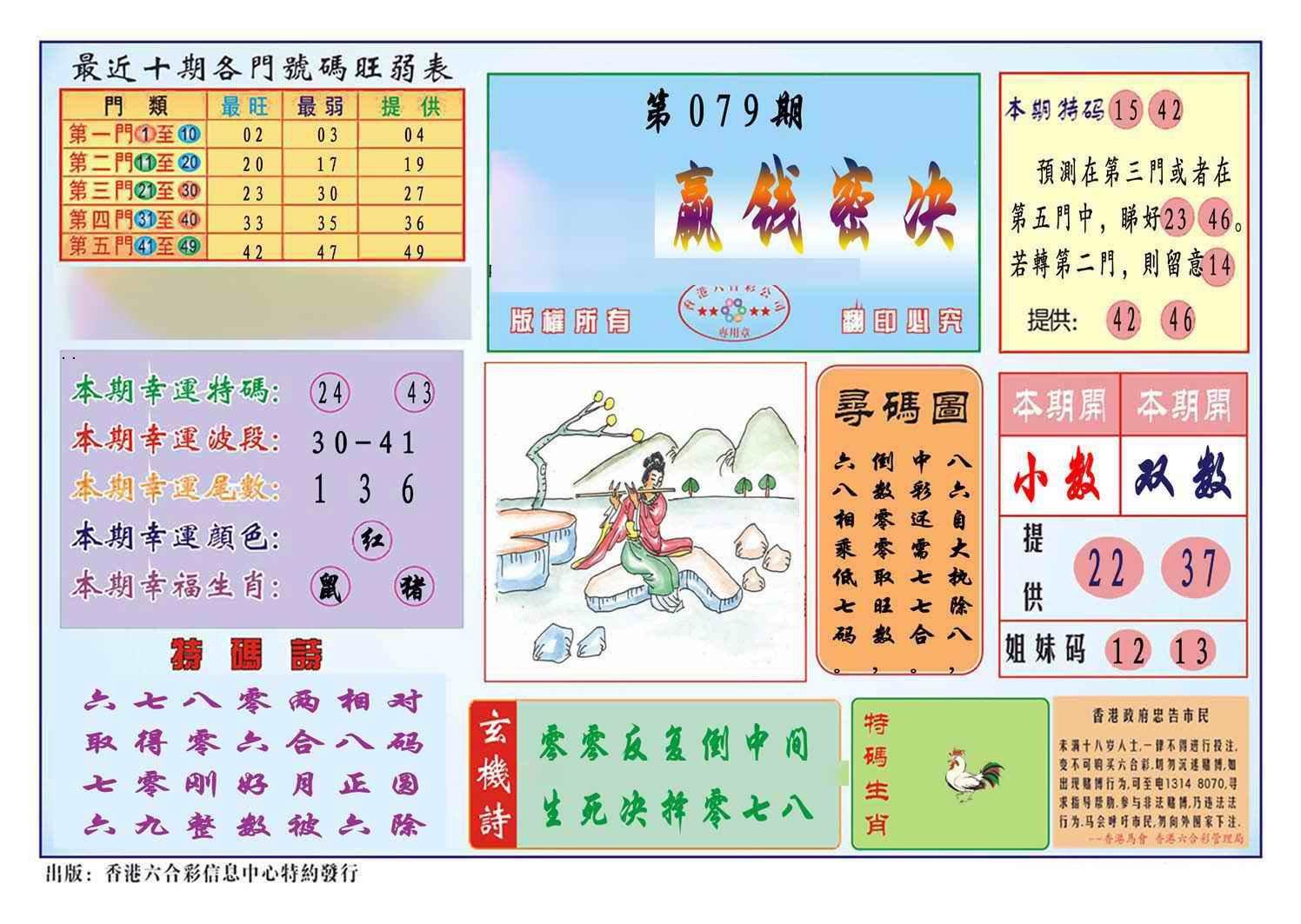 079期马经赢钱密决(新图)