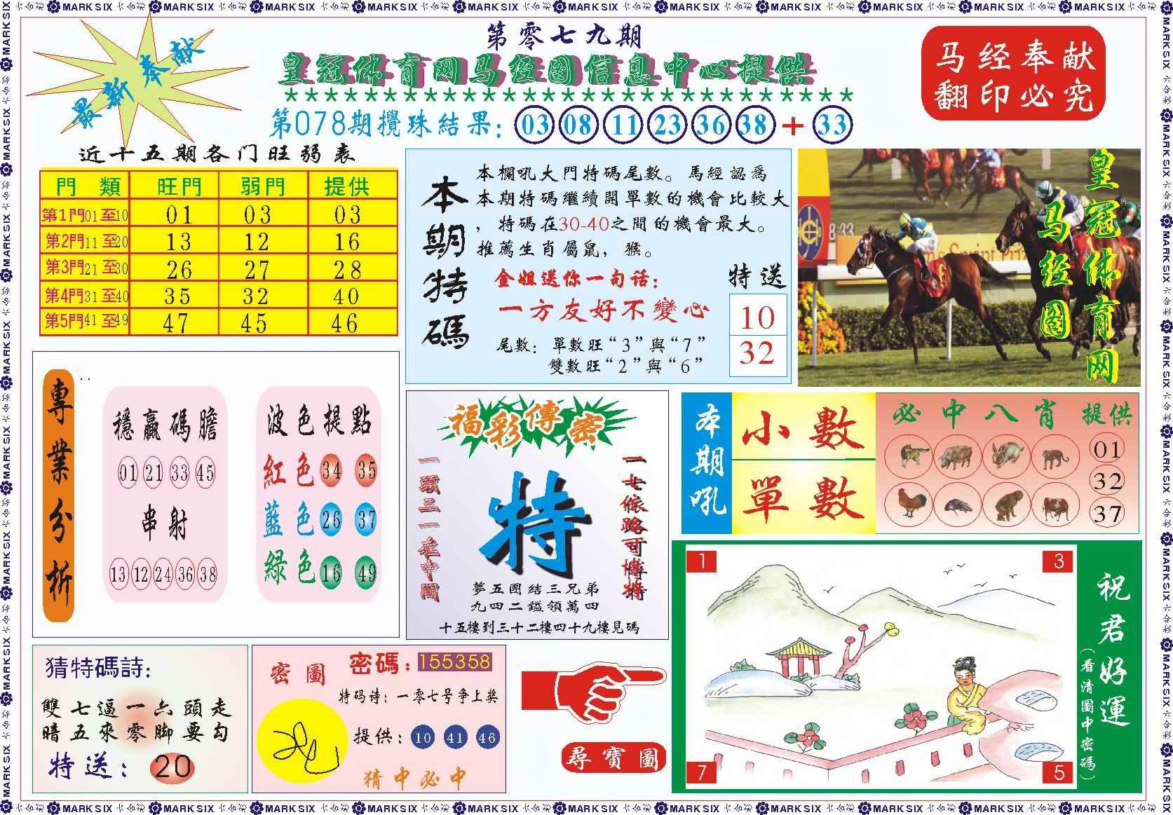 079期皇冠体育网马经图记录