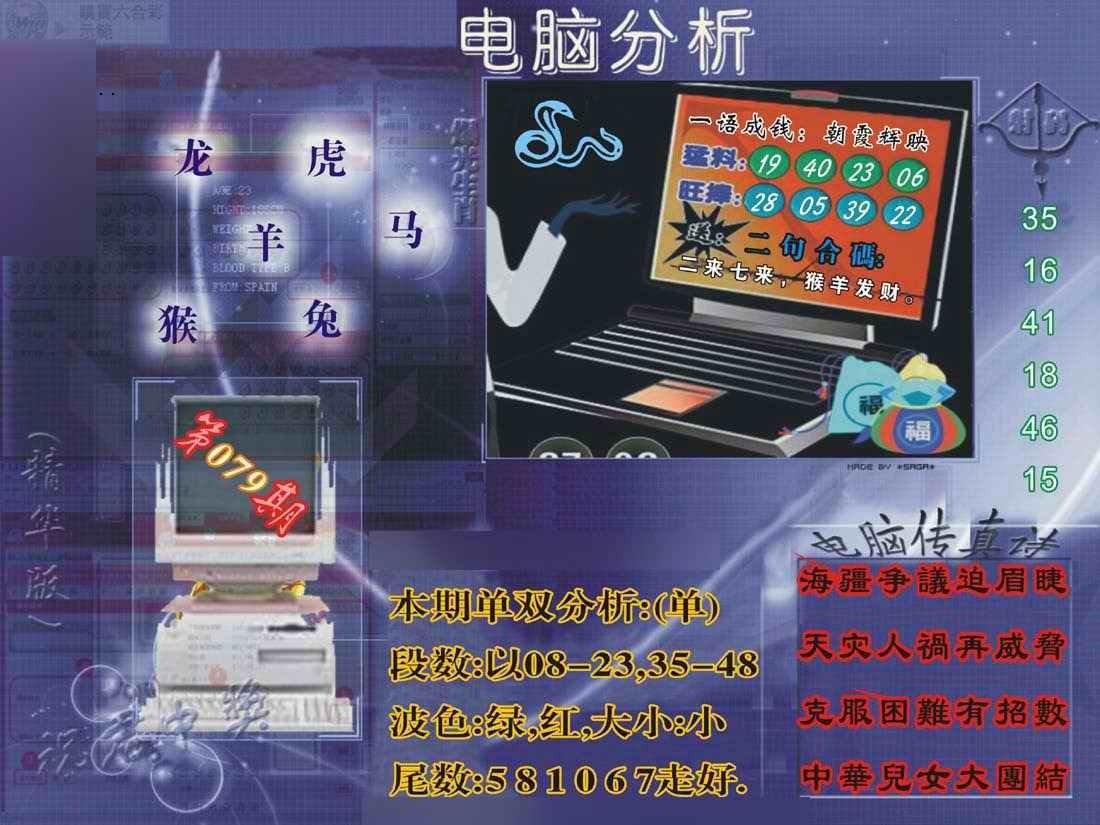 079期正版电脑分析贴士