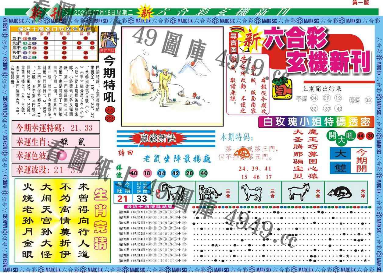 080期新六合彩特码新刊A