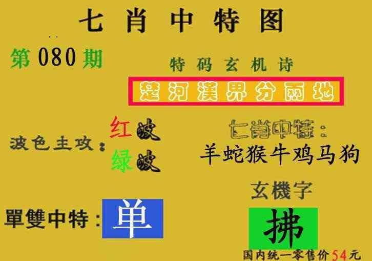 080期七肖中特(新图)
