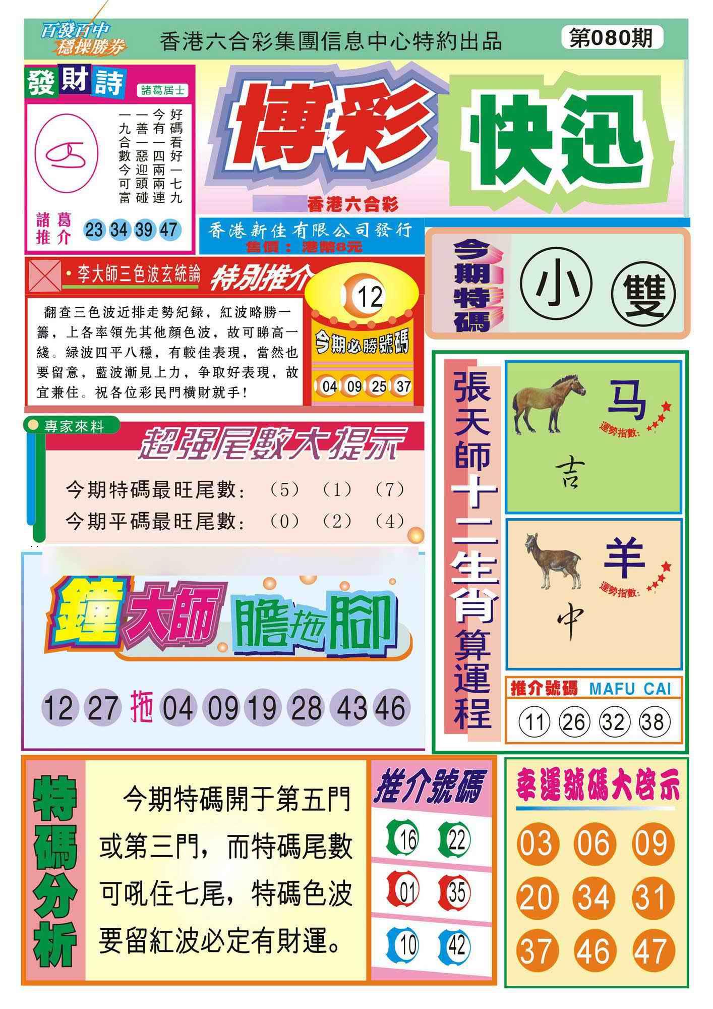 080期香港博彩快迅(新图)