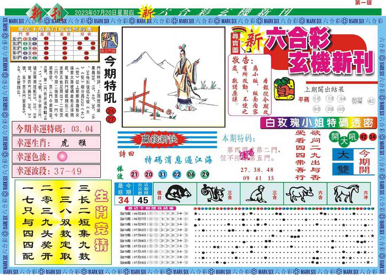 081期新六合彩特码新刊A