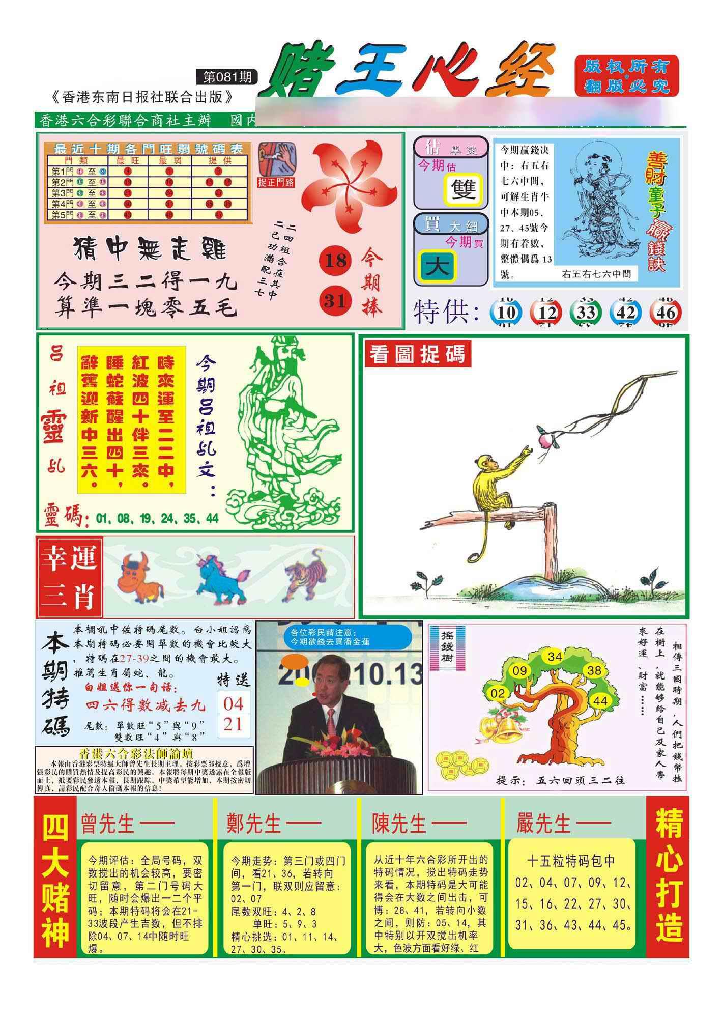 081期香港赌王心经(新图)