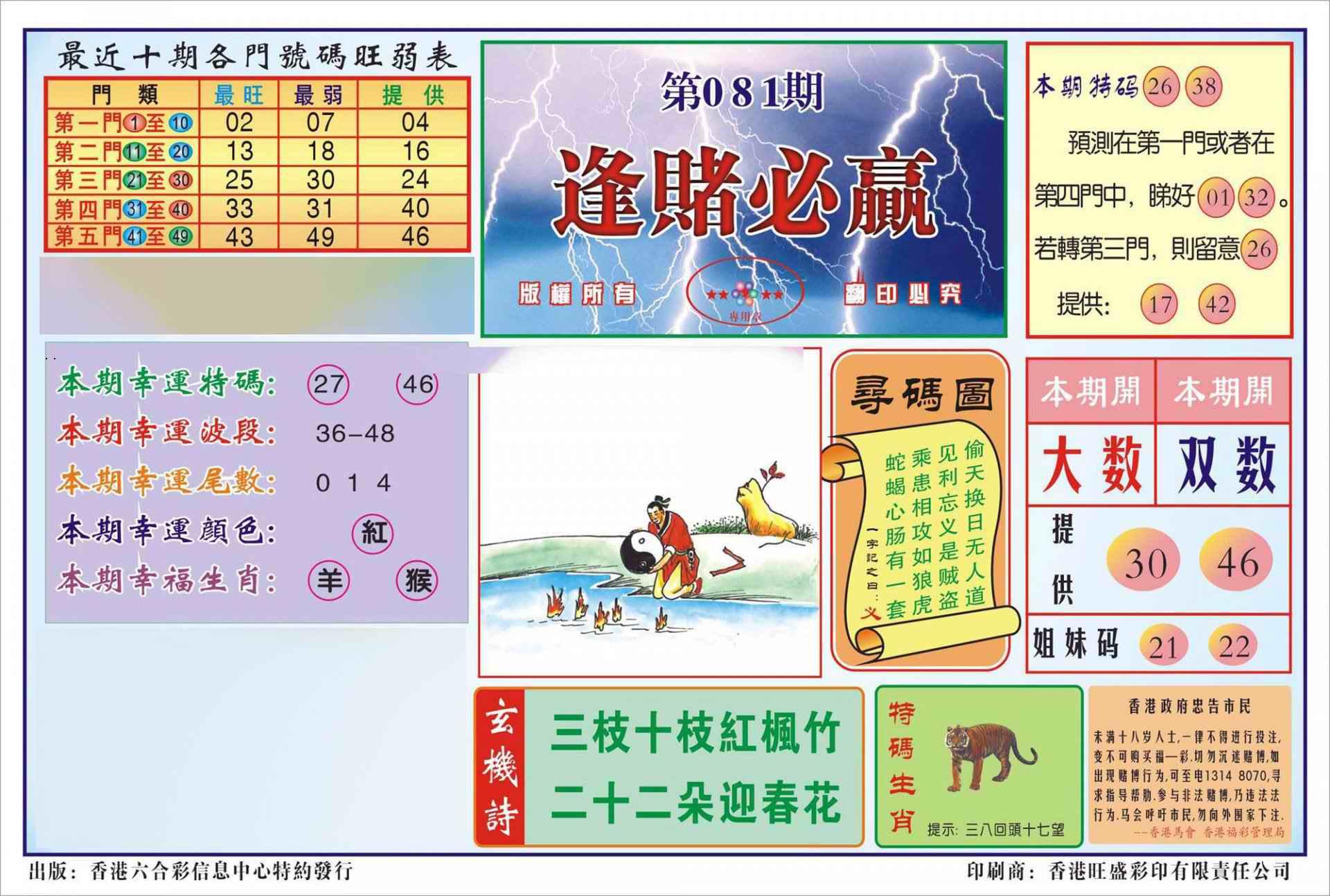 081期香港逢赌必羸(新图)