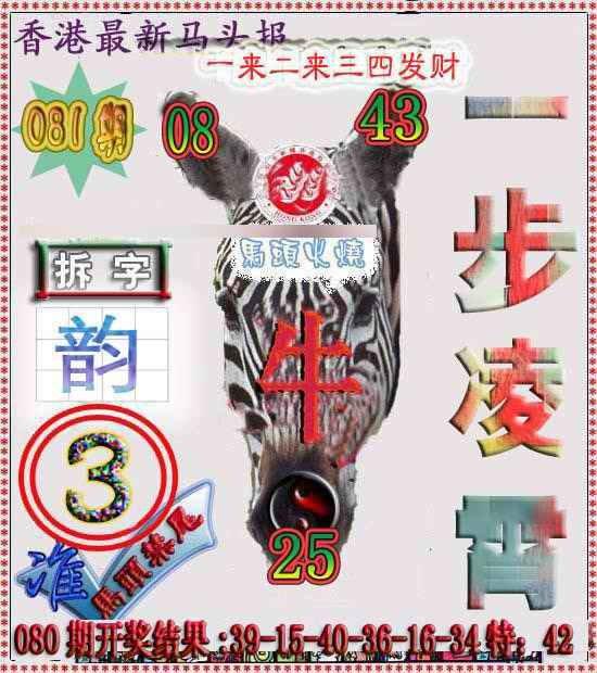 081期香港马头报
