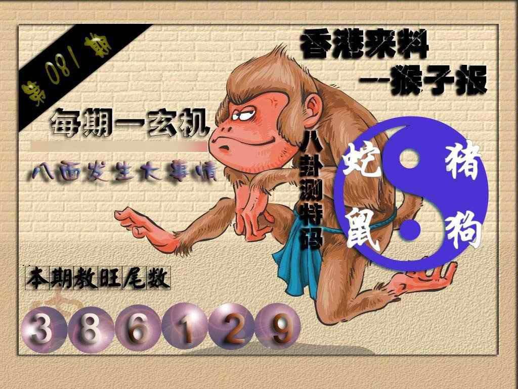 081期(香港来料)猴报