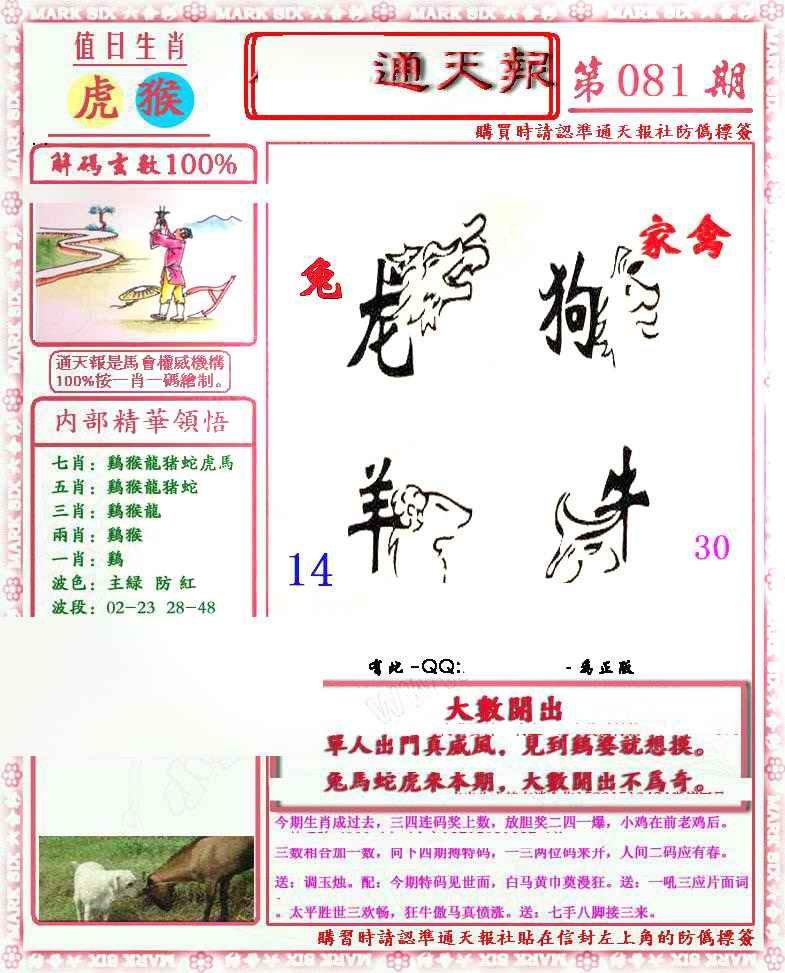 081期马经通天报(另版)