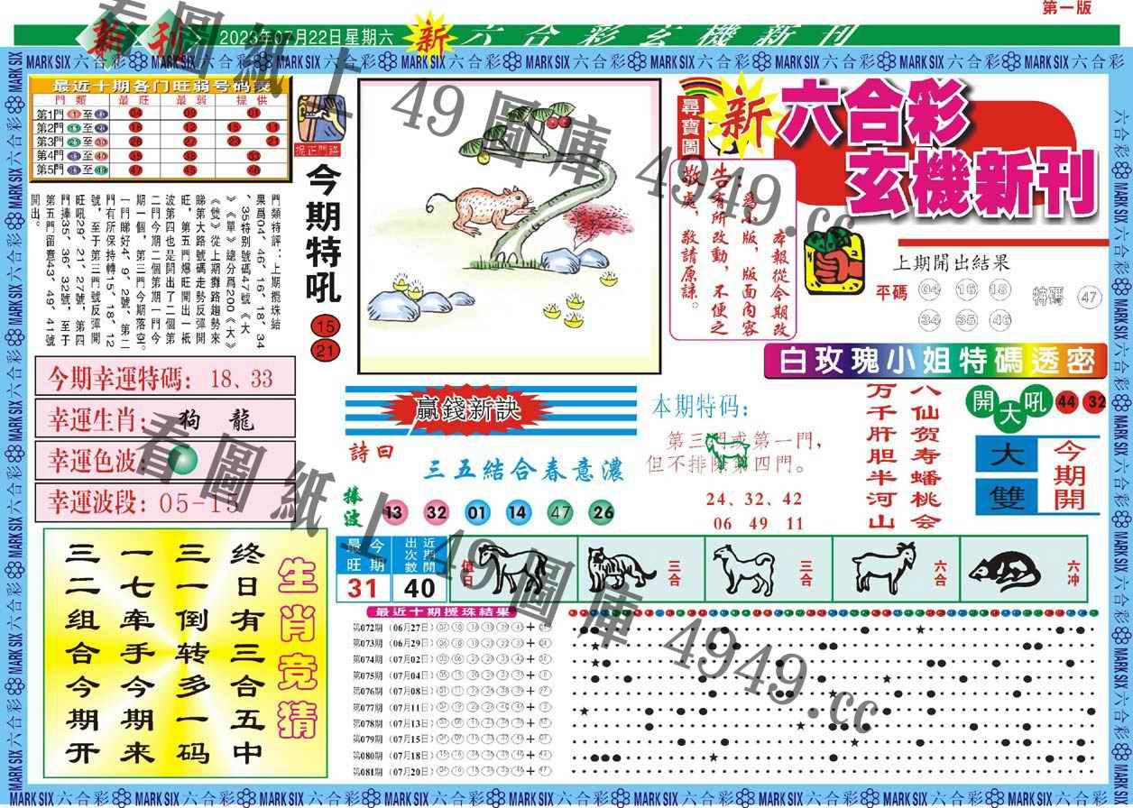082期新六合彩特码新刊A