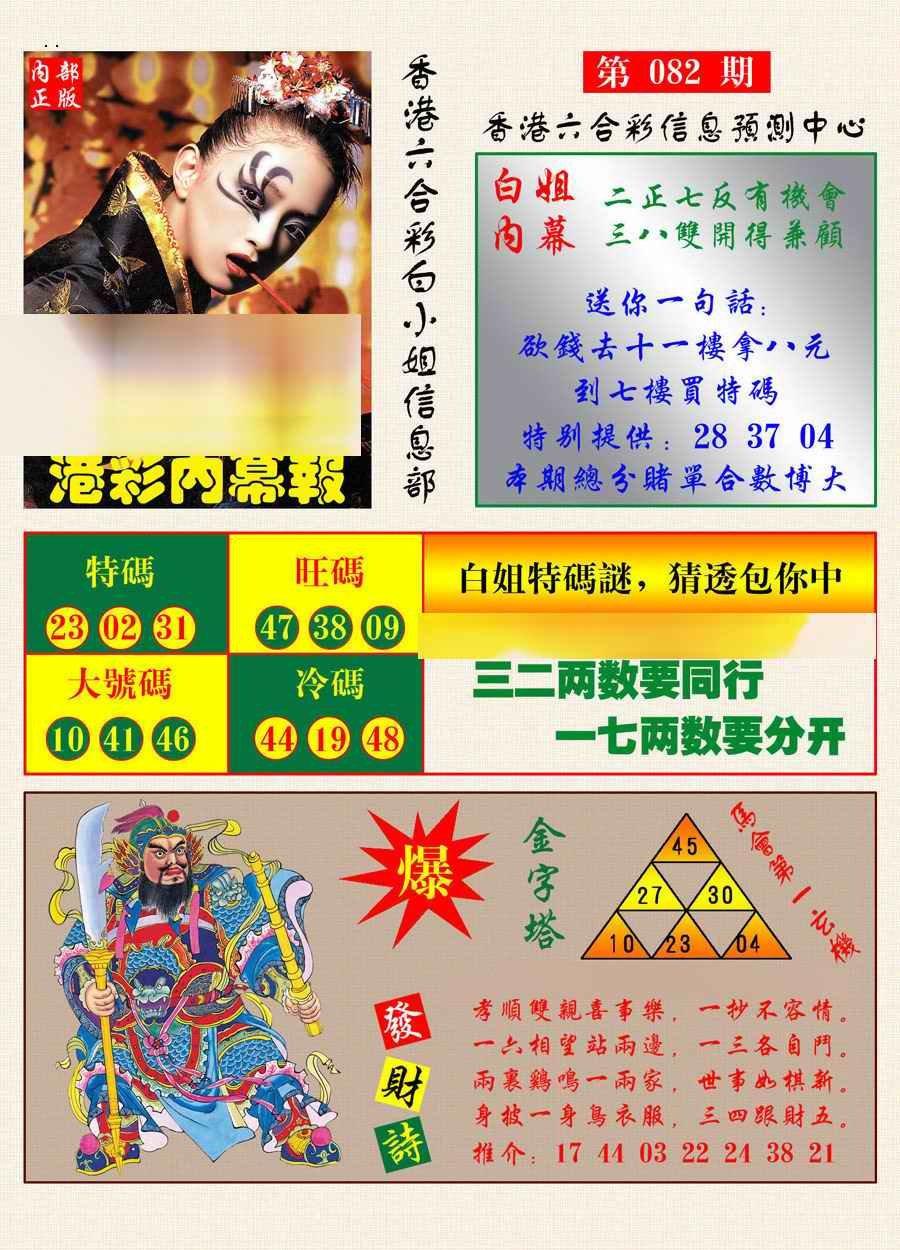 082期港彩内幕报