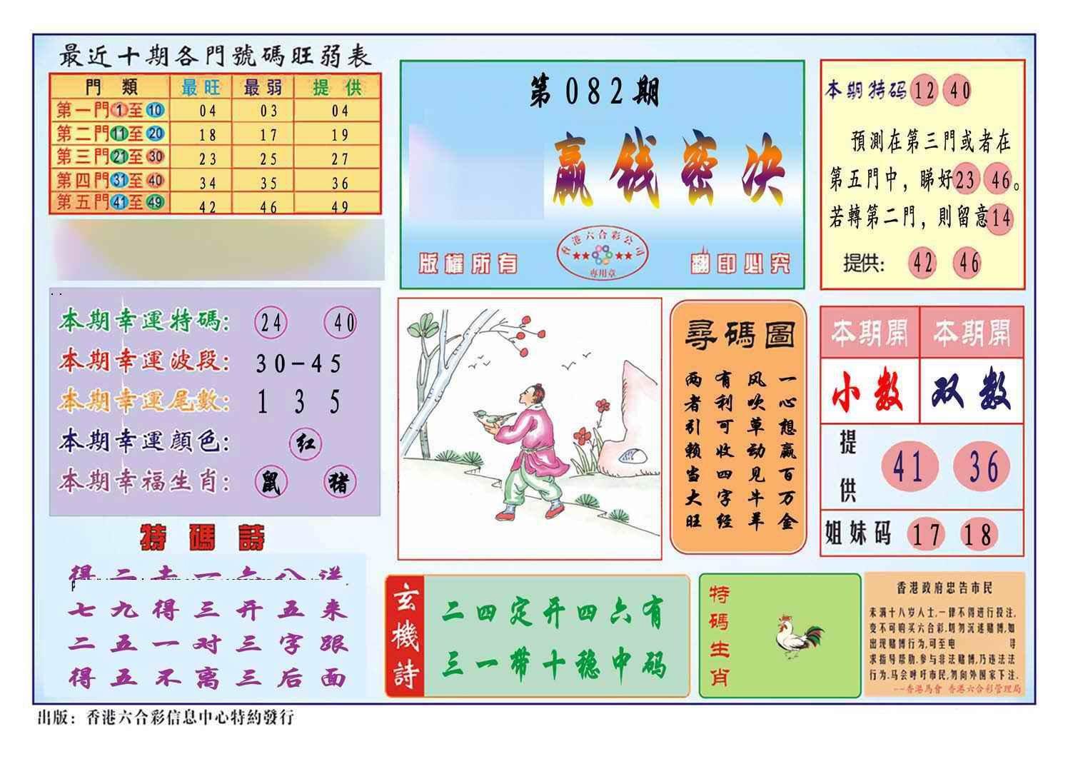 082期马经赢钱密决(新图)