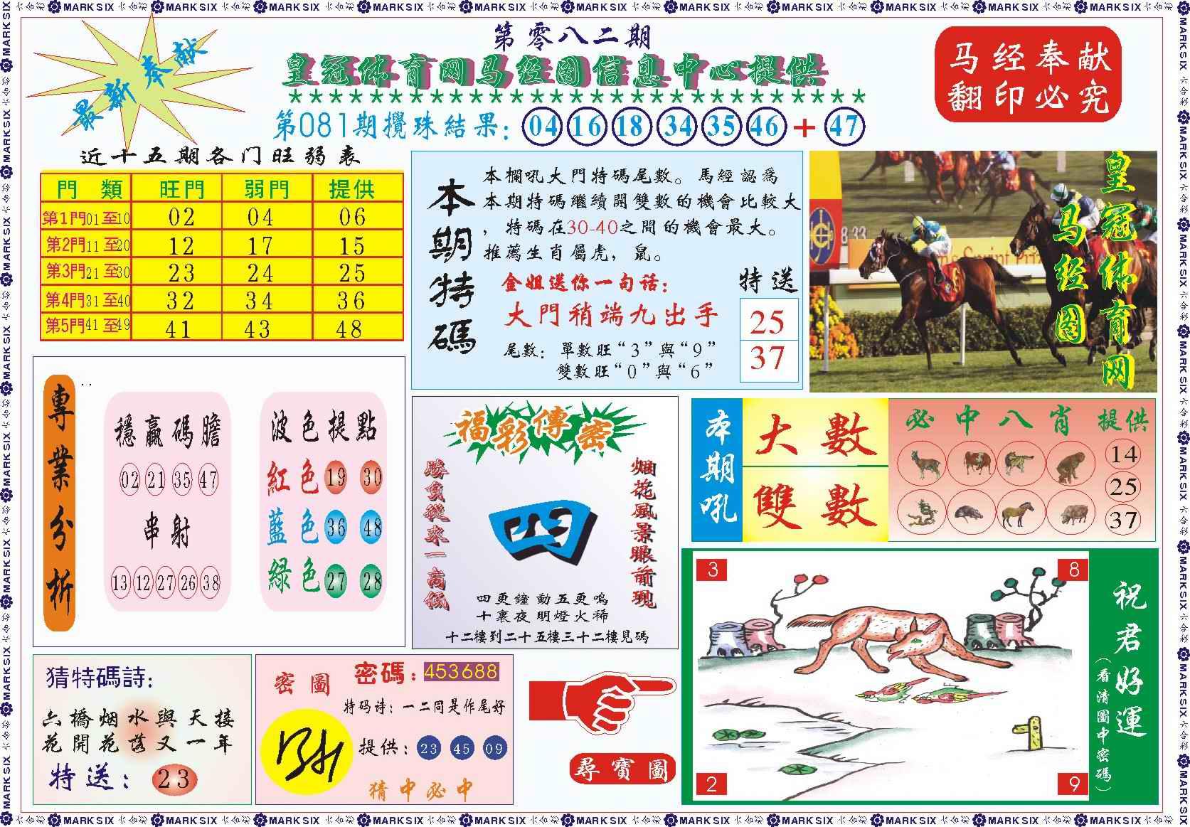 082期皇冠体育网马经图记录