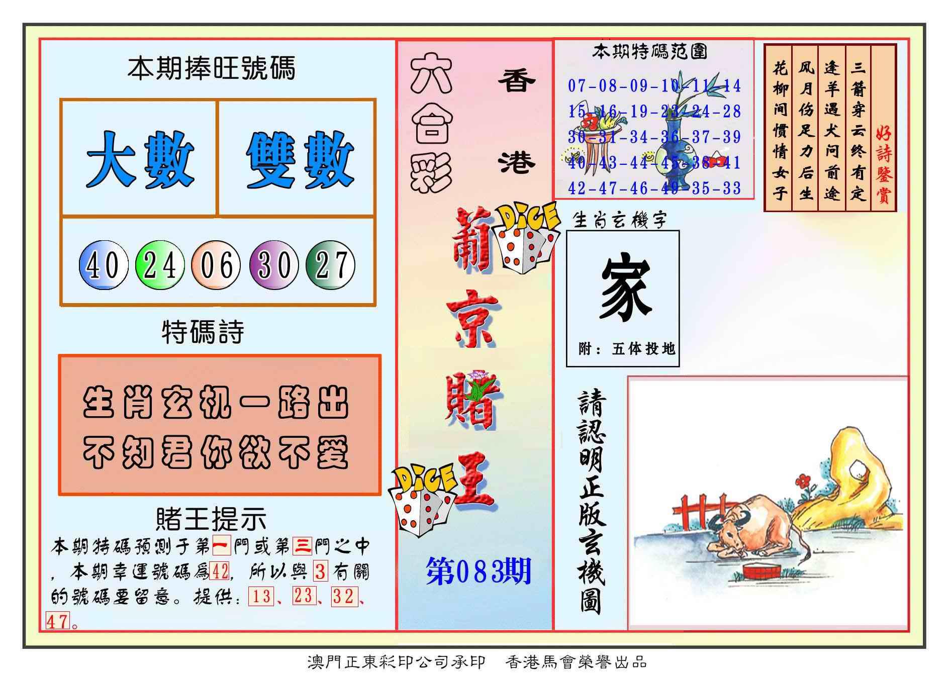 083期葡京赌王彩