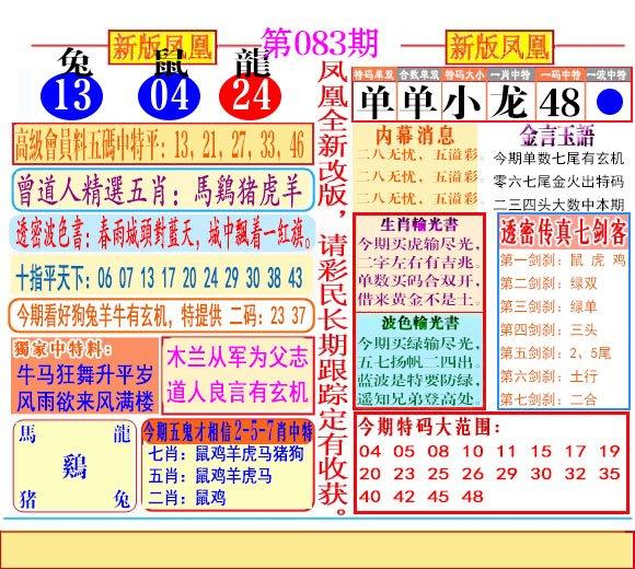 083期二代凤凰报