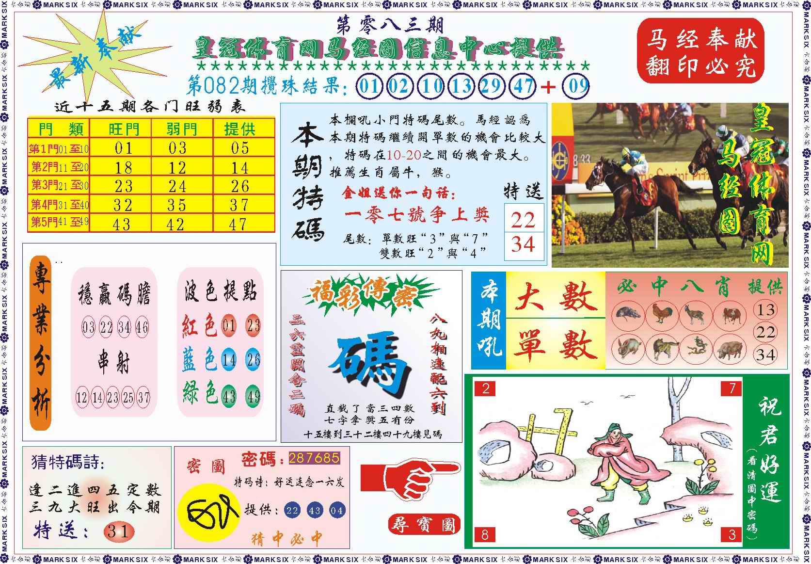 083期皇冠体育网马经图记录