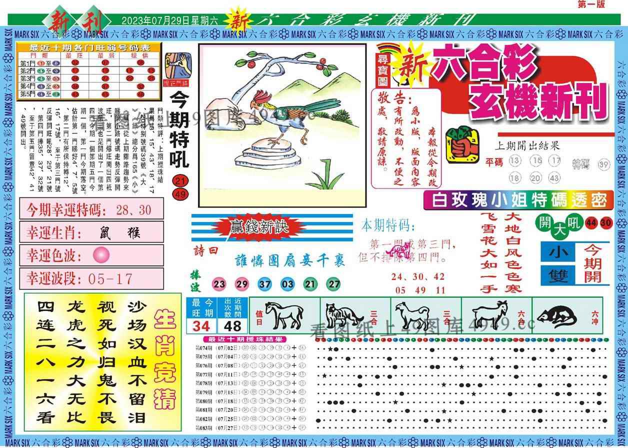 084期新六合彩特码新刊A