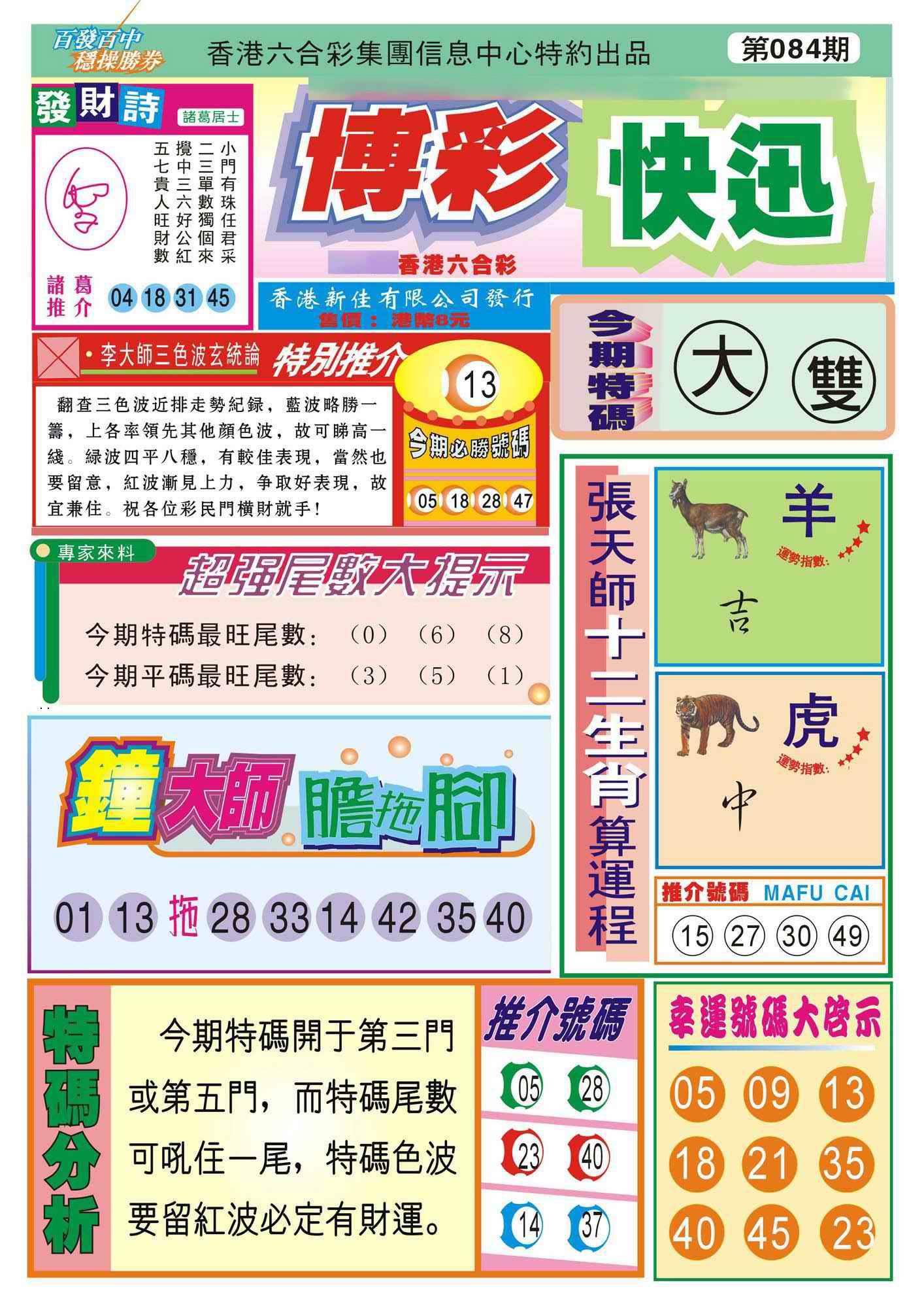 084期香港博彩快迅(新图)