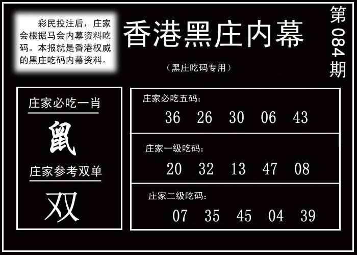084期香港黑庄内幕