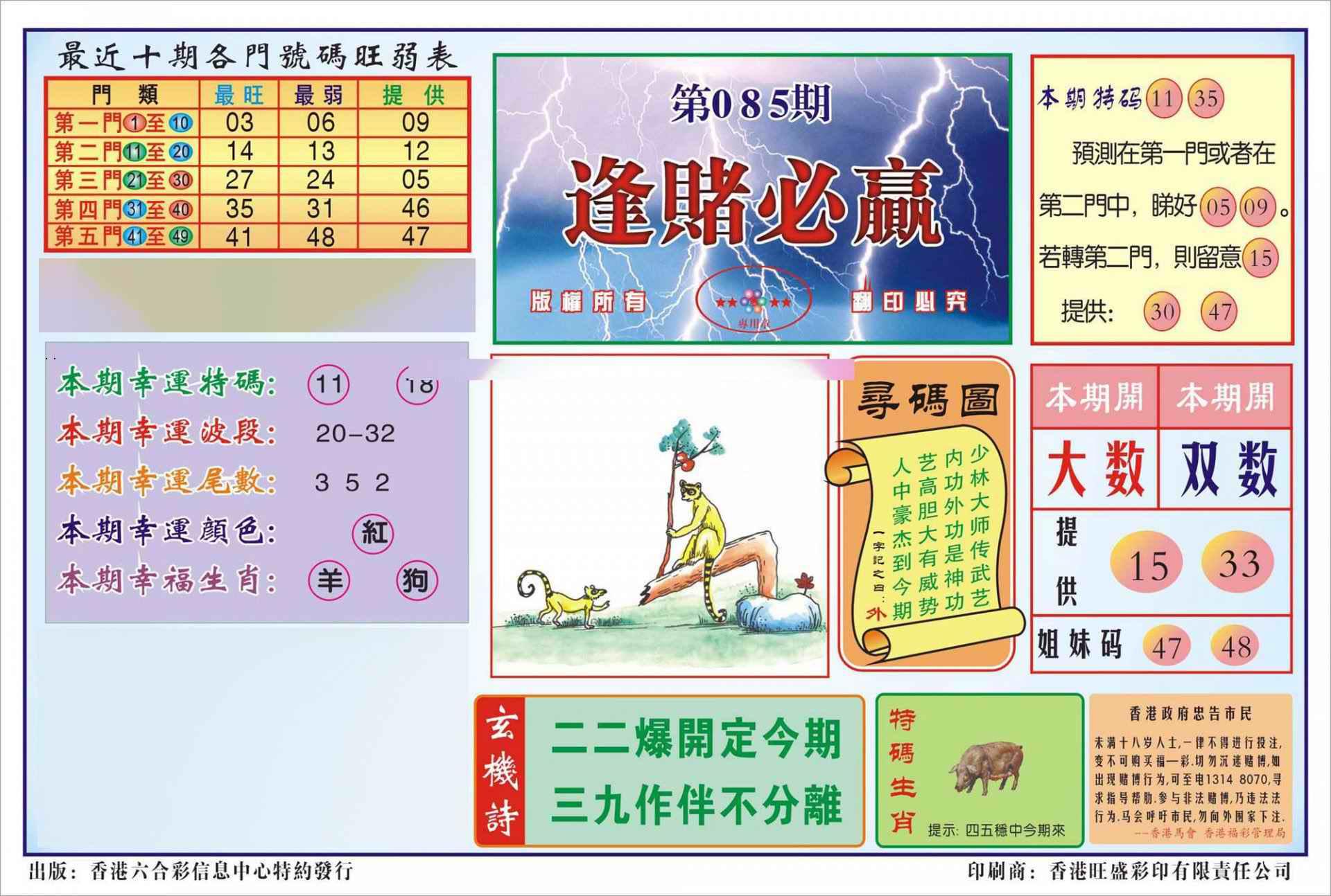 085期香港逢赌必羸(新图)