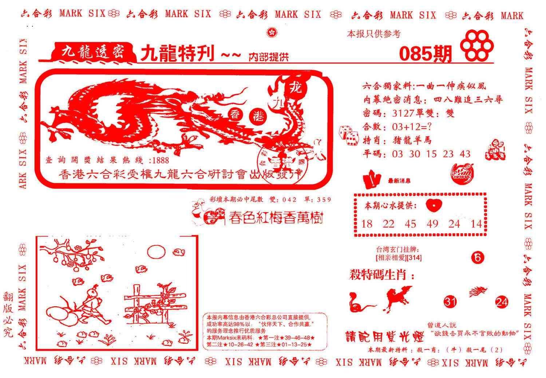 085期九龙特新刊