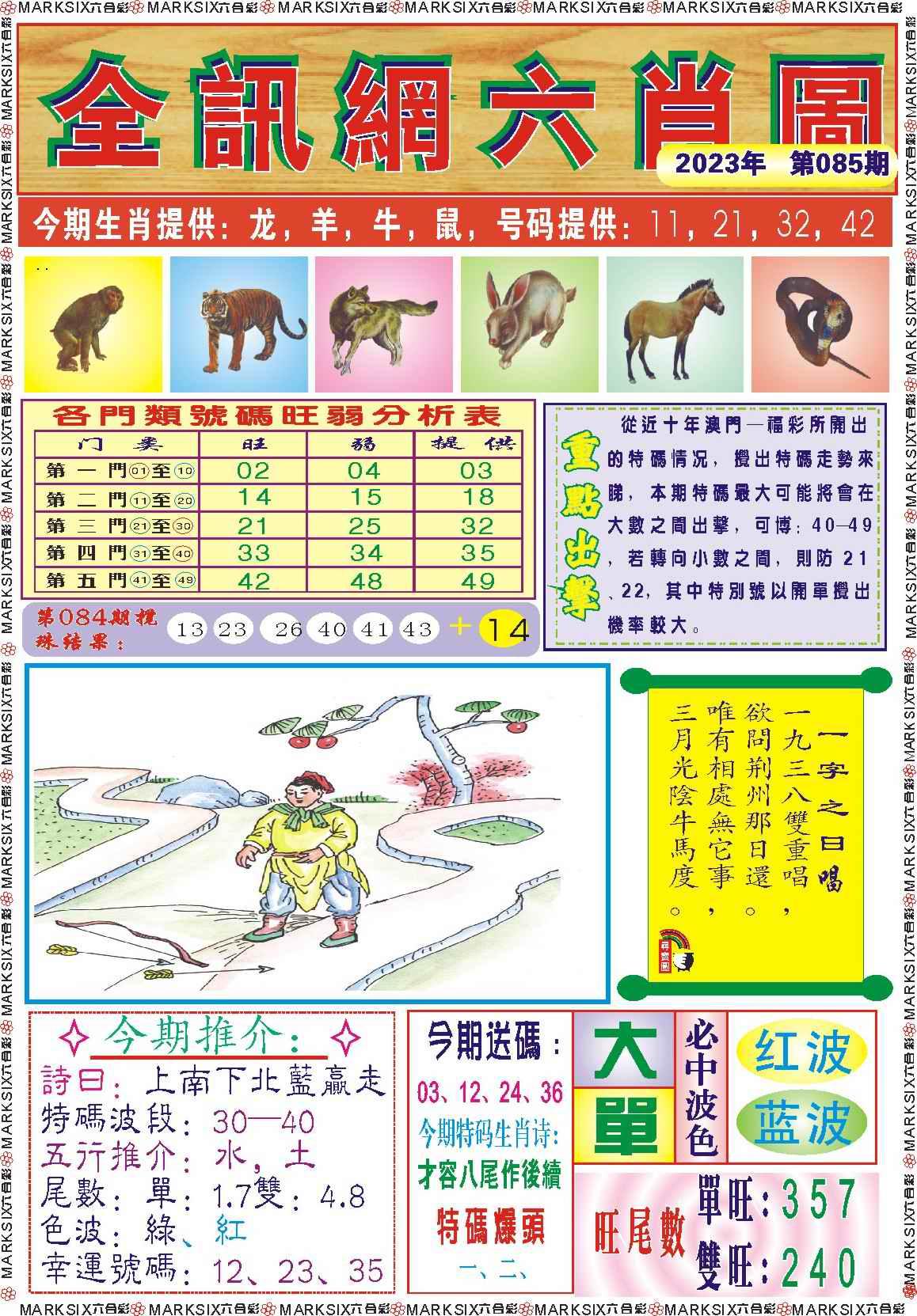 085期全讯网六肖图记录