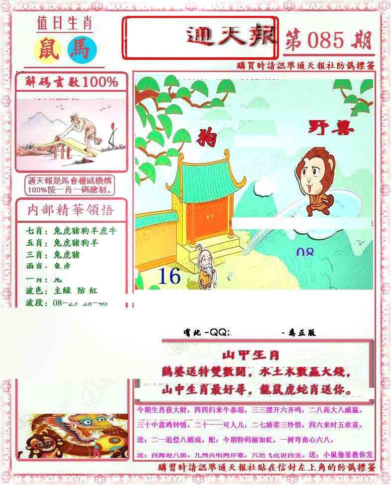 085期马经通天报(另版)