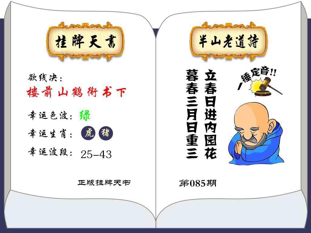 085期挂牌天书(新图)