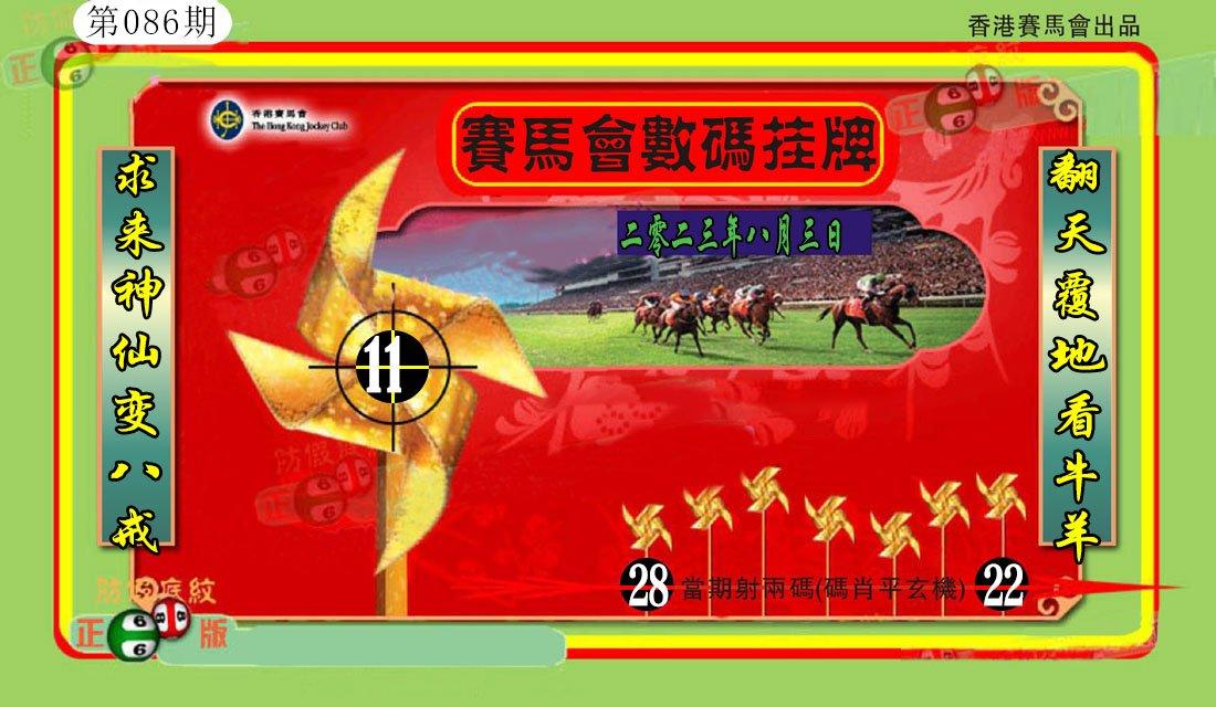 086期香港数码挂牌(另)