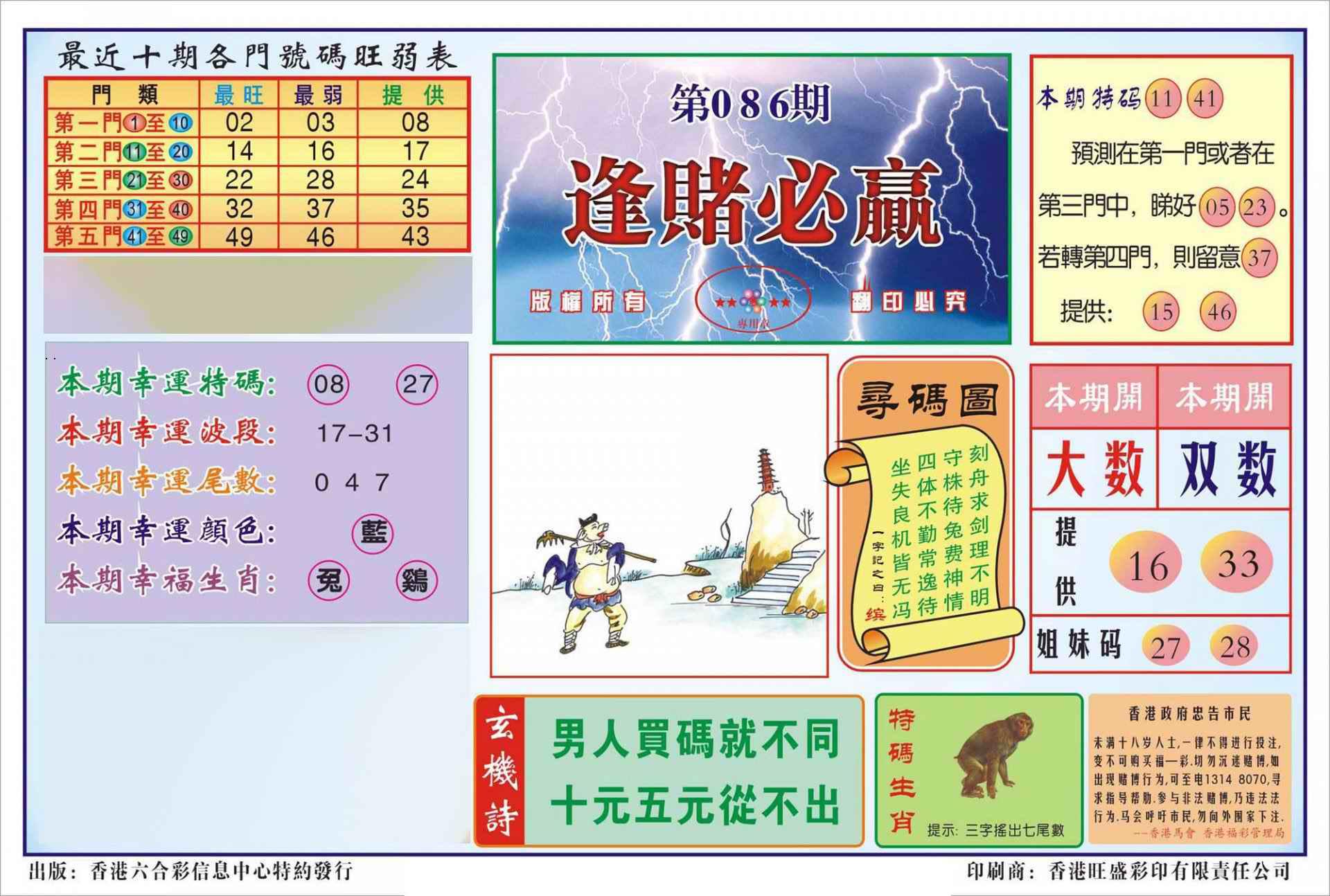 086期香港逢赌必羸(新图)
